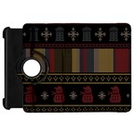 Tardis Doctor Who Ugly Holiday Kindle Fire HD Flip 360 Case Front