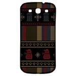 Tardis Doctor Who Ugly Holiday Samsung Galaxy S3 S III Classic Hardshell Back Case Front