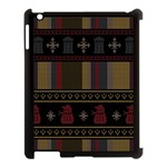 Tardis Doctor Who Ugly Holiday Apple iPad 3/4 Case (Black) Front