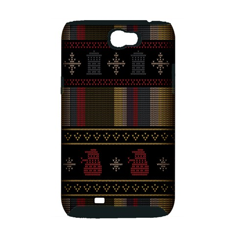Tardis Doctor Who Ugly Holiday Samsung Galaxy Note 2 Hardshell Case (PC+Silicone)