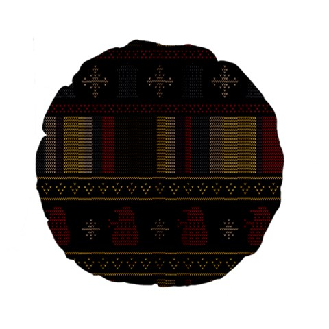 Tardis Doctor Who Ugly Holiday Standard 15  Premium Round Cushions