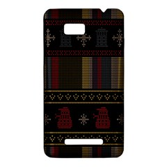 Tardis Doctor Who Ugly Holiday HTC One SU T528W Hardshell Case