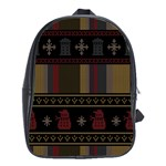 Tardis Doctor Who Ugly Holiday School Bags (XL)  Front