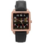 Tardis Doctor Who Ugly Holiday Rose Gold Leather Watch  Front
