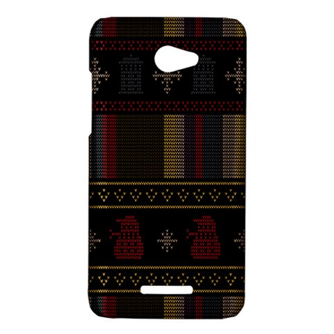 Tardis Doctor Who Ugly Holiday HTC Butterfly X920E Hardshell Case