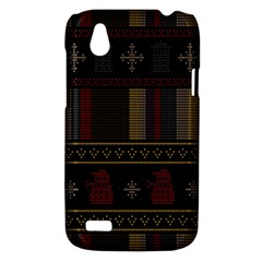 Tardis Doctor Who Ugly Holiday HTC Desire V (T328W) Hardshell Case