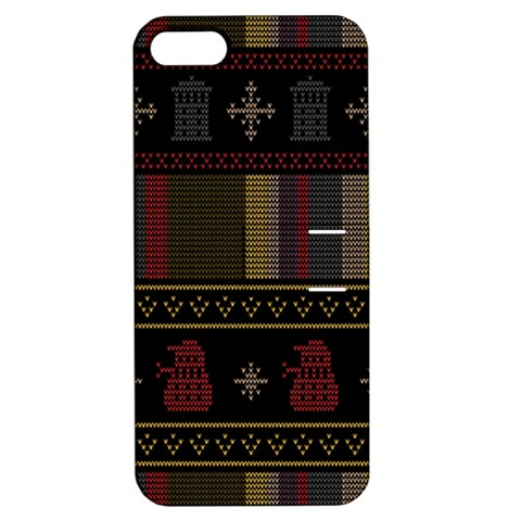 Tardis Doctor Who Ugly Holiday Apple iPhone 5 Hardshell Case with Stand
