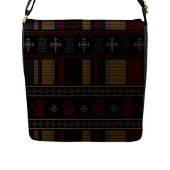 Tardis Doctor Who Ugly Holiday Flap Messenger Bag (L)