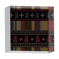 Tardis Doctor Who Ugly Holiday 5  x 5  Acrylic Photo Blocks