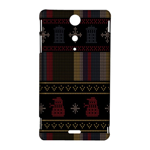 Tardis Doctor Who Ugly Holiday Sony Xperia TX