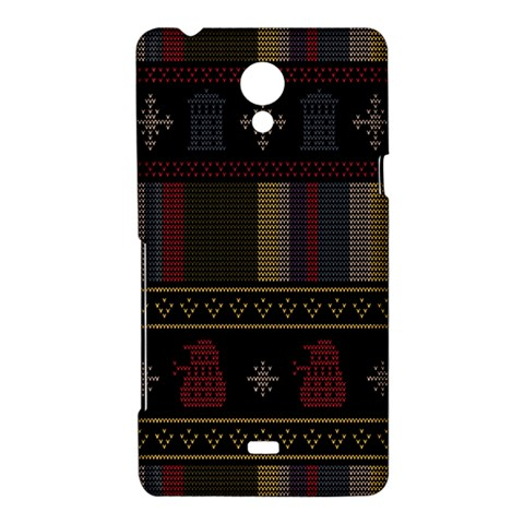 Tardis Doctor Who Ugly Holiday Sony Xperia T