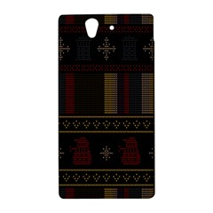 Tardis Doctor Who Ugly Holiday Sony Xperia Z