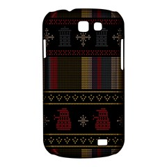 Tardis Doctor Who Ugly Holiday Samsung Galaxy Express I8730 Hardshell Case