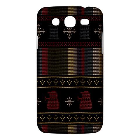 Tardis Doctor Who Ugly Holiday Samsung Galaxy Mega 5.8 I9152 Hardshell Case