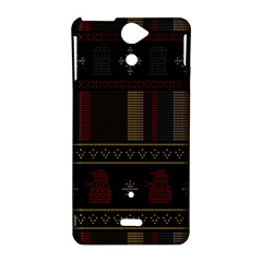 Tardis Doctor Who Ugly Holiday Sony Xperia V