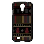 Tardis Doctor Who Ugly Holiday Samsung Galaxy S4 I9500/ I9505 Case (Black) Front