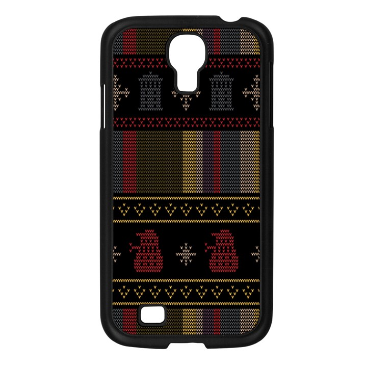 Tardis Doctor Who Ugly Holiday Samsung Galaxy S4 I9500/ I9505 Case (Black)
