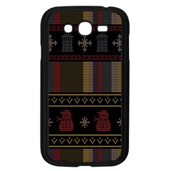 Tardis Doctor Who Ugly Holiday Samsung Galaxy Grand DUOS I9082 Case (Black)