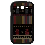 Tardis Doctor Who Ugly Holiday Samsung Galaxy Grand DUOS I9082 Case (Black) Front