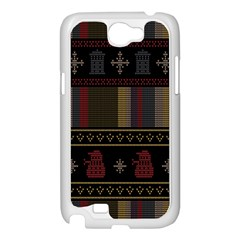 Tardis Doctor Who Ugly Holiday Samsung Galaxy Note 2 Case (White)