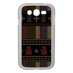 Tardis Doctor Who Ugly Holiday Samsung Galaxy Grand DUOS I9082 Case (White)