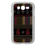 Tardis Doctor Who Ugly Holiday Samsung Galaxy Grand DUOS I9082 Case (White) Front