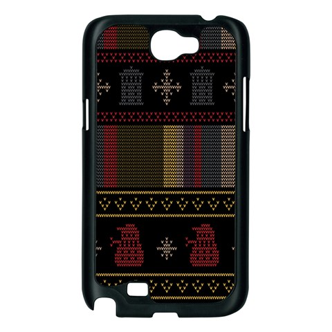 Tardis Doctor Who Ugly Holiday Samsung Galaxy Note 2 Case (Black)