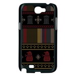 Tardis Doctor Who Ugly Holiday Samsung Galaxy Note 2 Case (Black) Front