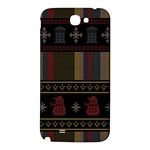 Tardis Doctor Who Ugly Holiday Samsung Note 2 N7100 Hardshell Back Case Front