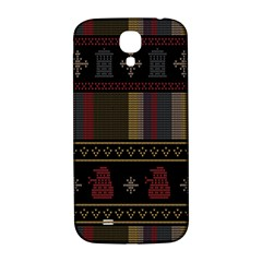 Tardis Doctor Who Ugly Holiday Samsung Galaxy S4 I9500/i9505  Hardshell Back Case