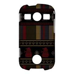 Tardis Doctor Who Ugly Holiday Samsung Galaxy S7710 Xcover 2 Hardshell Case