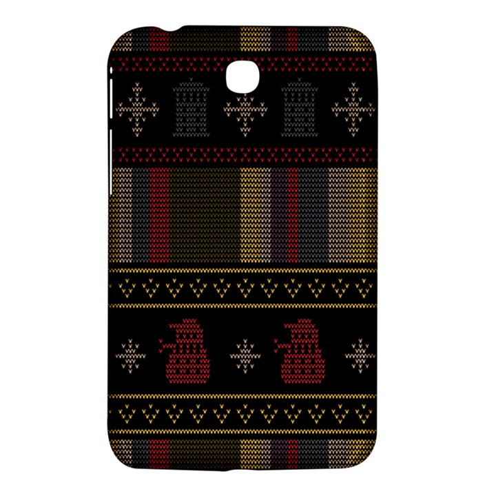 Tardis Doctor Who Ugly Holiday Samsung Galaxy Tab 3 (7 ) P3200 Hardshell Case