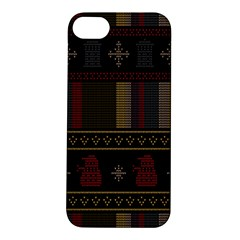 Tardis Doctor Who Ugly Holiday Apple iPhone 5S/ SE Hardshell Case