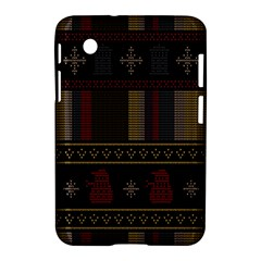 Tardis Doctor Who Ugly Holiday Samsung Galaxy Tab 2 (7 ) P3100 Hardshell Case