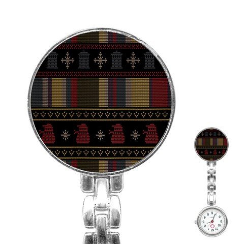 Tardis Doctor Who Ugly Holiday Stainless Steel Nurses Watch