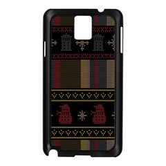 Tardis Doctor Who Ugly Holiday Samsung Galaxy Note 3 N9005 Case (black)