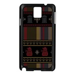 Tardis Doctor Who Ugly Holiday Samsung Galaxy Note 3 N9005 Case (Black) Front