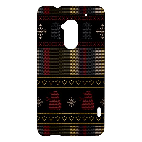 Tardis Doctor Who Ugly Holiday HTC One Max (T6) Hardshell Case