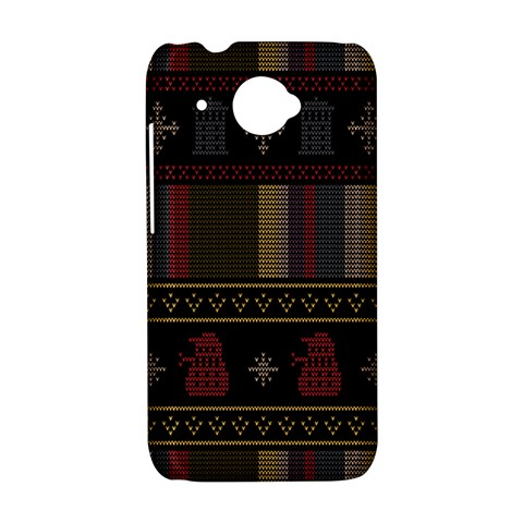 Tardis Doctor Who Ugly Holiday HTC Desire 601 Hardshell Case