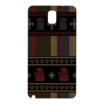 Tardis Doctor Who Ugly Holiday Samsung Galaxy Note 3 N9005 Hardshell Back Case Front