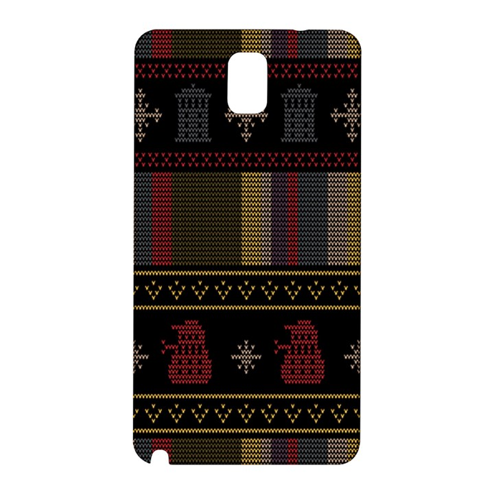 Tardis Doctor Who Ugly Holiday Samsung Galaxy Note 3 N9005 Hardshell Back Case