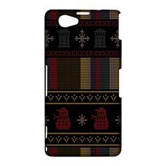 Tardis Doctor Who Ugly Holiday Sony Xperia Z1 Compact