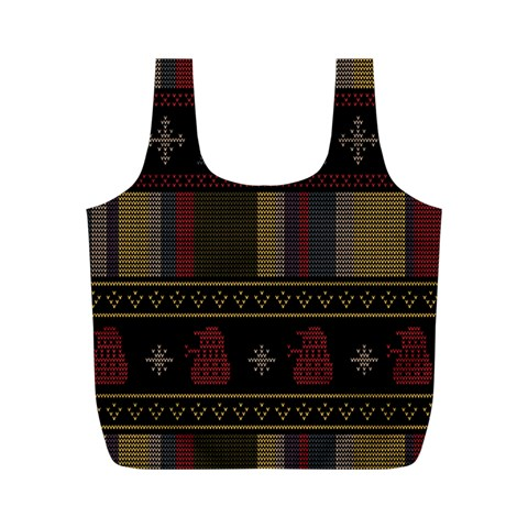 Tardis Doctor Who Ugly Holiday Full Print Recycle Bags (M)