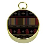 Tardis Doctor Who Ugly Holiday Gold Compasses Front