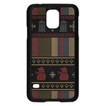 Tardis Doctor Who Ugly Holiday Samsung Galaxy S5 Case (Black) Front