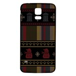 Tardis Doctor Who Ugly Holiday Samsung Galaxy S5 Back Case (White) Front