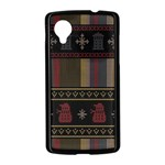 Tardis Doctor Who Ugly Holiday Nexus 5 Case (Black) Front