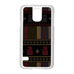Tardis Doctor Who Ugly Holiday Samsung Galaxy S5 Case (white)
