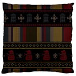 Tardis Doctor Who Ugly Holiday Standard Flano Cushion Case (Two Sides) Back