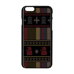 Tardis Doctor Who Ugly Holiday Apple iPhone 6/6S Black Enamel Case